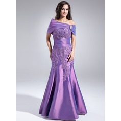 Trumpet/Mermaid Sweetheart Floor-Length Taffeta Mother of the Bride Dress With Lace Beading Sequins