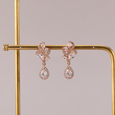 Ladies' Elegant Alloy/Zircon Cubic Zirconia Earrings For Bride/For Bridesmaid/For Mother (011234516)