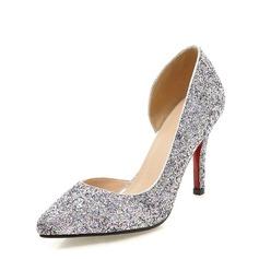 Kvinner Glitrende Glitter Stiletto Hæl Pumps Lukket Tå med Annet sko