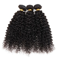 4A Non remy Kinky Curly Human Hair Human Hair Weave (Sold in a single piece) 50g