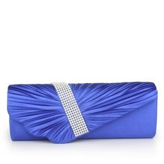 Elegant Silk With Rhinestone Clutches