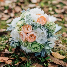 Gorgeous Free-Form Satin/Fabric Bridal Bouquets (Sold in a single piece) -