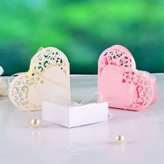 Elegant Heart-shaped Favor Boxes With Ribbons