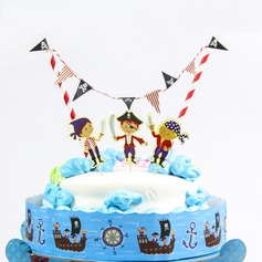 Cartoon Pirates Paper Cake Topper