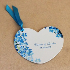 Personalized Flower Design Paper Invitation Cards With Ribbons