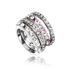 Shining Alloy/Platinum Plated With Rhinestone Ladies' Rings