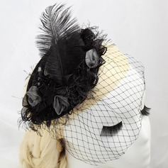 Glamourous Artificial Silk/Feather Fascinators