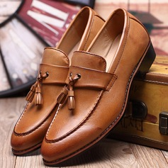Men's Leatherette Tassel Loafer Casual Men's Loafers (260187382)