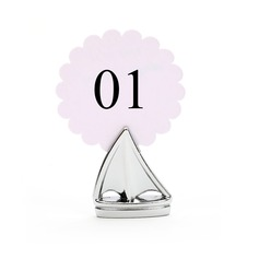 Sails Zinc Alloy Place Card Holders