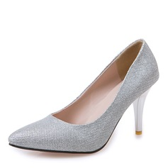 Women's Leatherette Stiletto Heel Pumps Closed Toe With Sequin Others shoes (085169755)