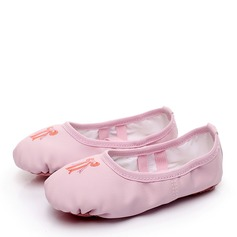 Women's Leatherette Flats Ballet Dance Shoes
