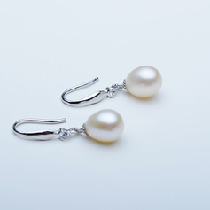 Ladies' Elegant 925 Sterling Silver Pearl Earrings For Bride/For Bridesmaid/For Mother (011220694)