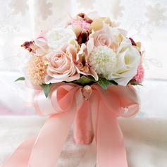 Elegant Round Satin Bridal Bouquets (Sold in a single piece) - Bridal Bouquets