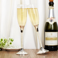 Personalized Elegant Glass Toasting Flutes  (126039781)