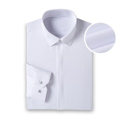 Solid Fly Front Dress Shirts