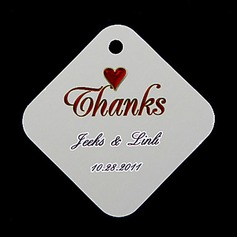 "Personalized ""Thanks"" Hard Card Paper Tags"