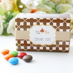 "Autumn ""Fall in Love"" Leaf Favor Box"