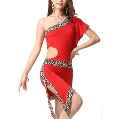 Women's Dancewear Rayon Latin Dance Dresses
