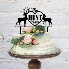 The Hunt Is Over Acrylic/Wood Cake Topper