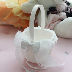 Beautiful Flower Basket in Chiffon With Bow (102073709)