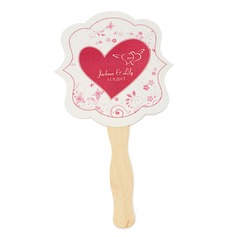 Personalized Hard Card Paper Hand Fans
