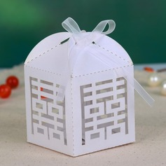 Double Happiness Cut–out Favor Boxes With Ribbons