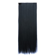Straight Synthetic Hair Clip in Hair Extensions (Sold in a single piece) 130g