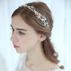 Ladies Gorgeous Alloy Headbands With Venetian Pearl (Sold in single piece)
