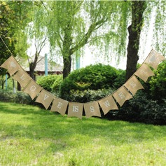 """Love is sweet"" Burlap Photo Booth Props/Banner"
