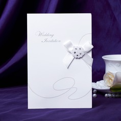 klassisk Stil Side Fold Invitation Cards med Buer