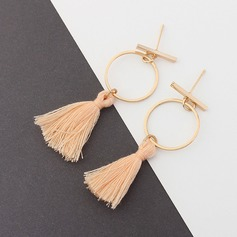Unique Cotton String Copper Women's Fashion Earrings