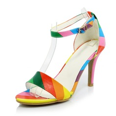Women's Leatherette Stiletto Heel Sandals Pumps shoes
