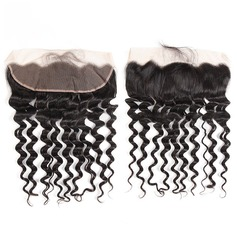 "13""*4"" 4A Deep Human Hair Closure (Sold in a single piece)"