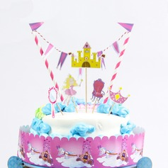 Crown and Princess Paper Cake Topper