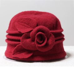 Ladies' Pretty/Charming Wool With Flower Bowler/Cloche Hat