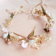 Beautiful Alloy/Imitation Pearls Headbands With Rhinestone