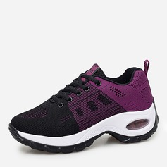 Women's Mesh With Lace-up Satin Flower Sneakers & Athletic