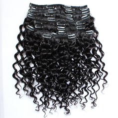 3A Deep Human Hair Clip in Hair Extensions 8pcs