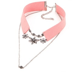 Mode Alliage Cristal Similicuir avec Imitation cristal Dames Collier de mode