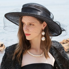 Ladies' Glamourous/Classic/Elegant/Romantic Cambric With Tulle Beach/Sun Hats