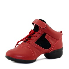 Unisex Real Leather Sneakers Sneakers Dance Shoes