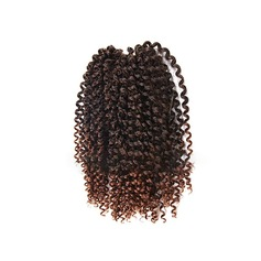 Kinky Curly Synthetic Hair Human Hair Weave (Sold in a single piece) 150g