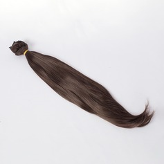 Straight Synthetic Hair Human Hair Weave (Sold in a single piece)