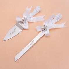 Personalized Butterfly Design Stainless Steel Serving Sets With Pearl (118061455)