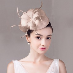 Ladies' Vintage Net Yarn With Silk Flower/Rhinestone Fascinators