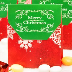 Merry Christmas Snowflake Favor Box/Candy Bag