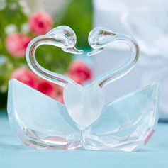 Swan Design Crystal Keepsake