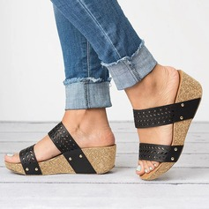 Women's PU Wedge Heel Sandals Wedges With Others shoes (116201038)