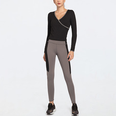 Moderne / Contemporain Style Vintage simple Extensible Sports nylon T-shirt De Sport Et Leggings