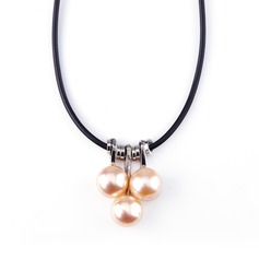 Lovely Pearl/Rubber Rope Ladies' Necklaces